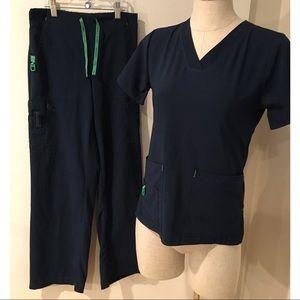 Carhartt Force Blue Scrubs Nursing Uniform Set XS